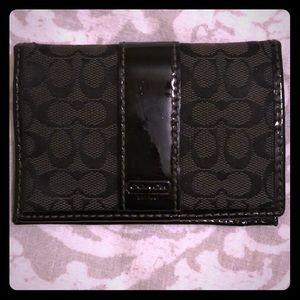 COACH black wallet credit card holder